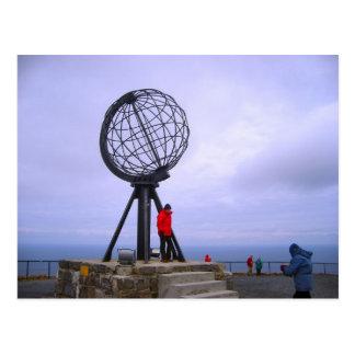 Norwegen, Kugel am Nordkap Postkarte