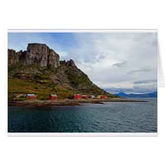 Norwegen-Küste Grußkarte