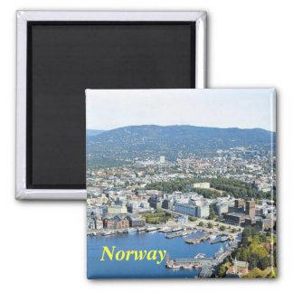 Norwegen-Magnet Quadratischer Magnet