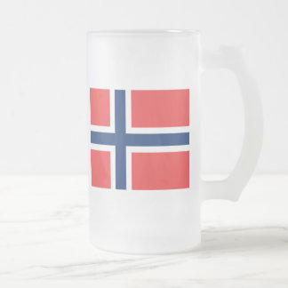 Norwegen Matte Glastasse