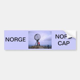 Norwegen, Nordkap, Kugelsymbol Autoaufkleber