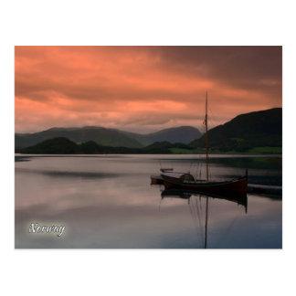 Norwegen, Sonnenuntergang bei Otnes Postkarte