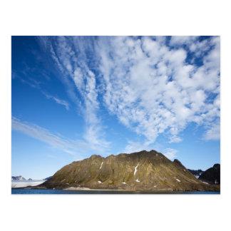 Norwegen Svalbard Wolken über steilen Klippen Postkarten