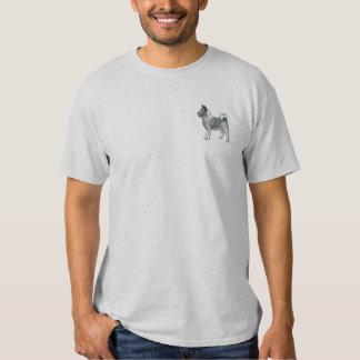 Norweger Elkhound Besticktes T-Shirt