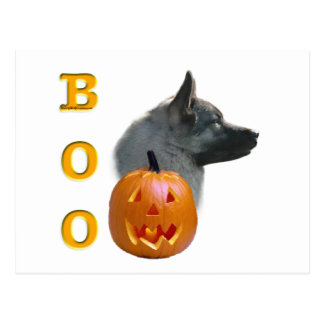 Norweger Elkhound Halloween Boo Postkarte