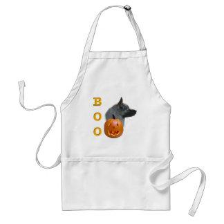 Norweger Elkhound Halloween Boo Schürze