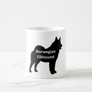 Norweger Elkhound Namenssilo black.png Kaffeetasse