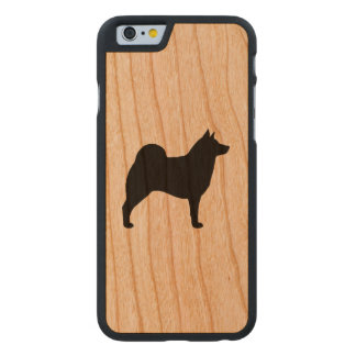 Norweger Elkhound Silhouette Carved® iPhone 6 Hülle Kirsche