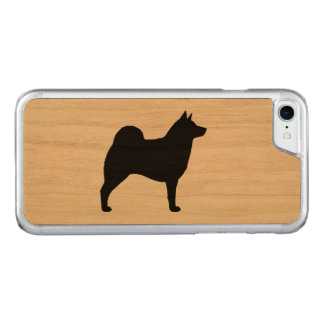 Norweger Elkhound Silhouette Carved iPhone 8/7 Hülle