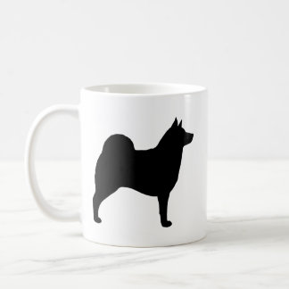 Norweger Elkhound Silhouetten Kaffeetasse