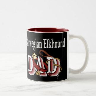 Norweger Elkhound Vati-Geschenke Zweifarbige Tasse