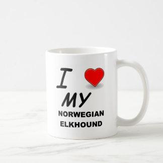 norwegische elkhound Liebe Kaffeetasse