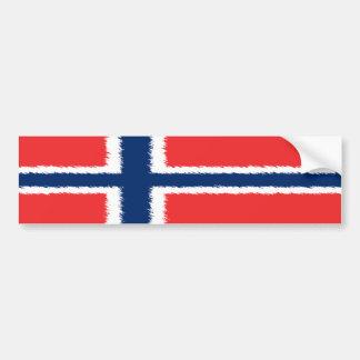 Norwegische Flagge Autoaufkleber