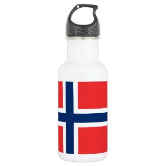 Norwegische Flagge Edelstahlflasche