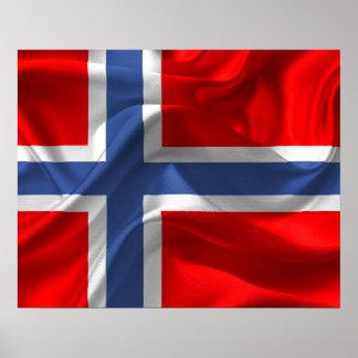Norwegische Flagge Poster