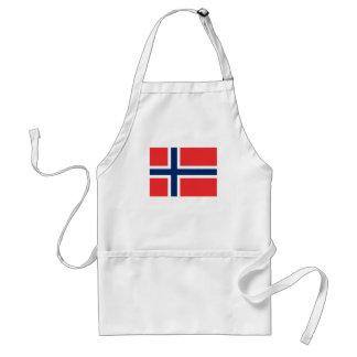 Norwegische Flagge Schürze