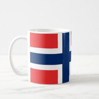 Norwegische Flaggen-Tasse Kaffeetasse
