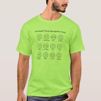 Norwegische Gesichtsanerkennungs-Skala-lustiger T T-Shirt