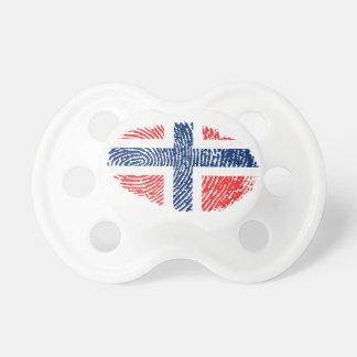 Norwegische Touchfingerabdruckflagge Schnuller