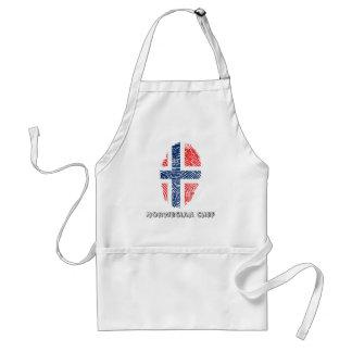 Norwegische Touchfingerabdruckflagge Schürze