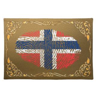 Norwegische Touchfingerabdruckflagge Tischset