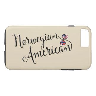 Norwegischer Amerikaner entwirrter Herz-Handy-Fall iPhone 8 Plus/7 Plus Hülle