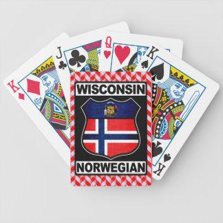 Norwegischer amerikanischer Kartensatz Wisconsins Bicycle Spielkarten