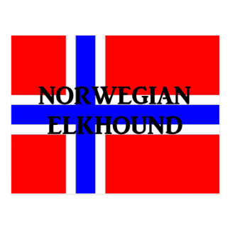 norwegischer elkhound Name norway-flag.png Postkarte