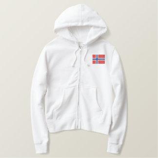 Norwegischer Hockey-Skandinavier-Sport Bestickter Hoodie
