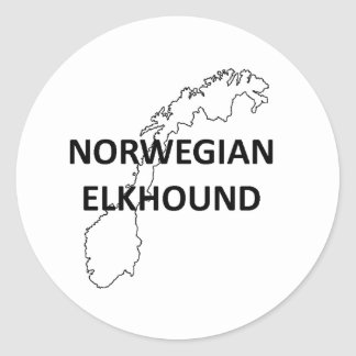 norwegisches elkhound Norwegen outline.png Runder Aufkleber