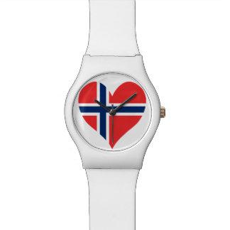Norwegisches Flaggen-Herz