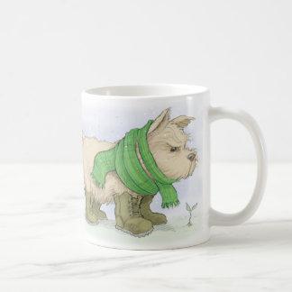 Norwich-Terrier im März Kaffeetasse