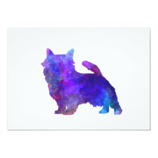 Norwich Terrier im Watercolor 12,7 X 17,8 Cm Einladungskarte