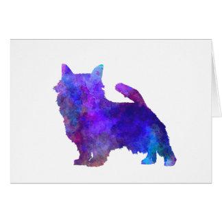 Norwich Terrier im Watercolor Karte