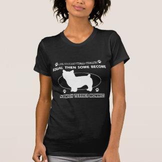 Norwich-Terrier Mama-Entwürfe T-Shirt