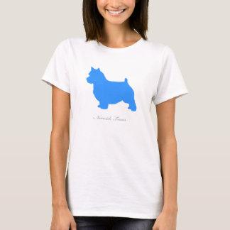 Norwich-Terrier-T - Shirt (blaue Silhouette)