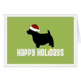 Norwich-Terrier-Weihnachtsmannmütze Karte