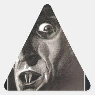 Nosferatu Dreieckiger Aufkleber