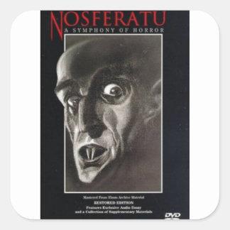Nosferatu Quadratischer Aufkleber