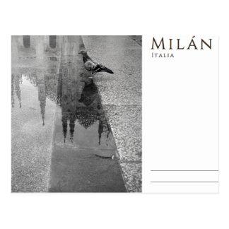 Nostalgie von Mailand Postkarte