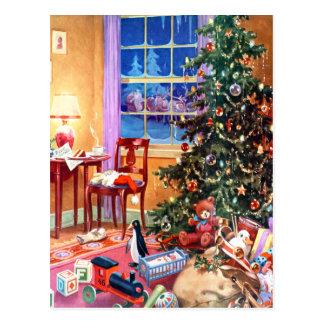 Nostalgischer Weihnachtsbaum Postkarte