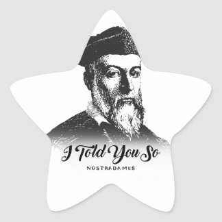 Nostradamus: Ich erklärte Ihnen so Stern-Aufkleber