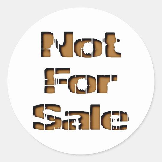 not for sale runder aufkleber
