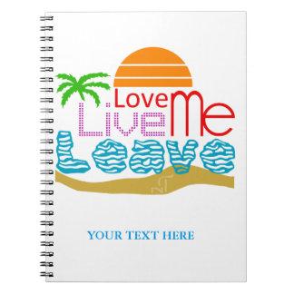 Notebook Valentine - Sea, sun, beach Spiral Notizblock