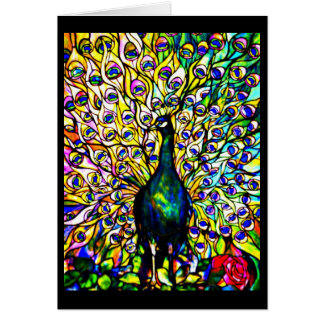 Notecard-Befleckter Glas-Louis Tiffany 16 Karte