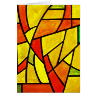 Notecard-Beflecktes Glass-19 Karte