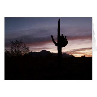 Notecard blauer Nebel des Sonnenuntergangs Arizona Karte
