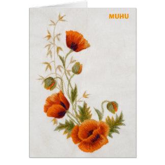Notecard Mohnblume Muhu Karte