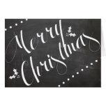 Notecard Tafel der frohen Weihnachten Karten