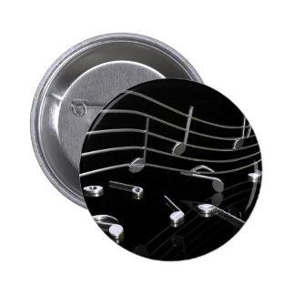 Noten, Musik, schwarz Button